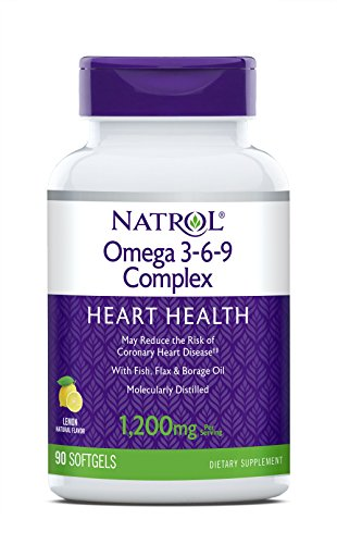 Natrol Omega 3-6-9 Complex Softgels, 1,200mg, 90-Count