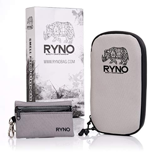 RYNO Smell Proof Travel Stash Bag W/Combo Lock - Comes with Smaller 100% smell proof Pouch for on the go ! This Container provides Odorless Storage for Herbs, Pipe and all your Smelly Accessories