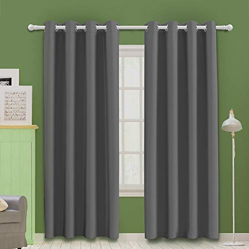 MOOORE Grey Bedroom Blackout Cur...