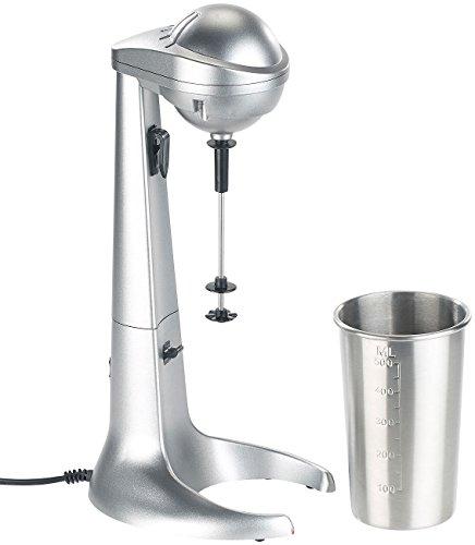 Rosenstein & Söhne Milchshaker: Elektrischer Drink-Mixer mit Edelstahl-Becher, 65 Watt (Cocktailmixer)