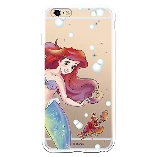 Cover per iPhone 6 Plus - 6S Plus Ufficiale della Sirenetta Ariel e Sebastian Bolle per proteggere il tuo cellulare Cover per Apple in silicone flessibile con licenza ufficiale Disney.
