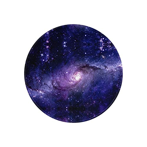 Galaxy Milkyway Cover Round Mouse Pad Mat Cute Mouse Pad with Design Women and Man Office Mouse Pads Rubber Mousepad Gaming Mouse Pad
