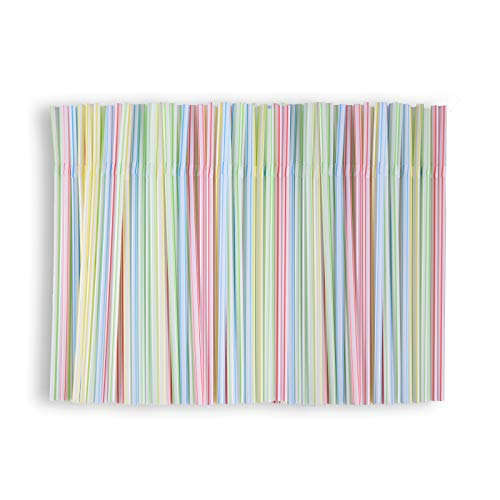 400 pajitas plegables reutilizables de gel de sílice, pajitas flexibles de colores, pajitas flexibles para fiestas, bebidas suaves, batidos de leche, etc.