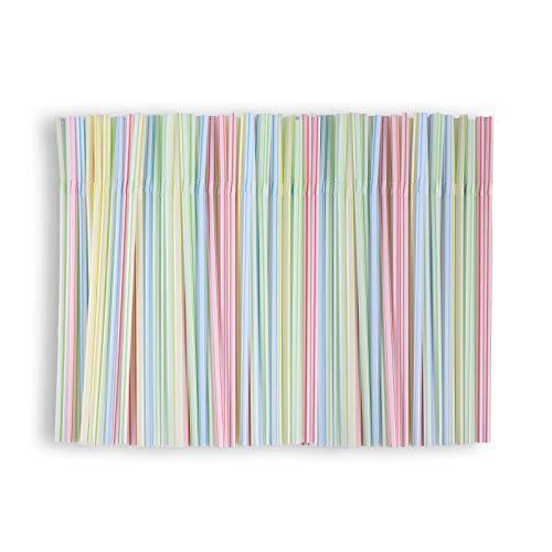 400 pezzi Cannucce in Riutilizzabile Colorato, Cannucce Cocktail Cannucce colorate e flessibili, ideali per feste, bibite, frappè, paglia
