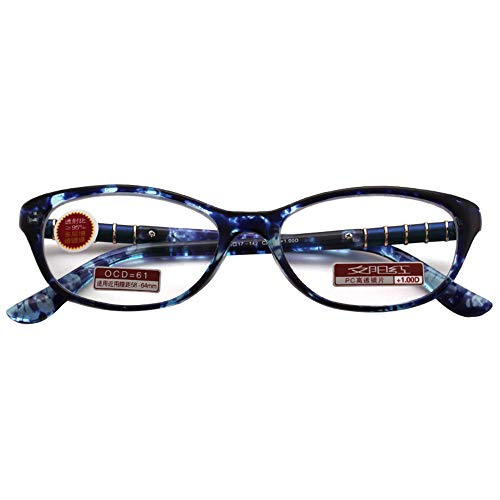 vergrootglas UV-bescherming leesbril, Seniors HD lezen anti-vermoeidheid anti-straling ultra-lichte hars mode bril, dames handige leesbril