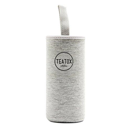 TEATOX Verre Thermo-Go Bottle 330ml - Bouteille isotherme double paroi - Infuseur Fruit thé - Infuseur à thé 2 en 1 (Sleeve)
