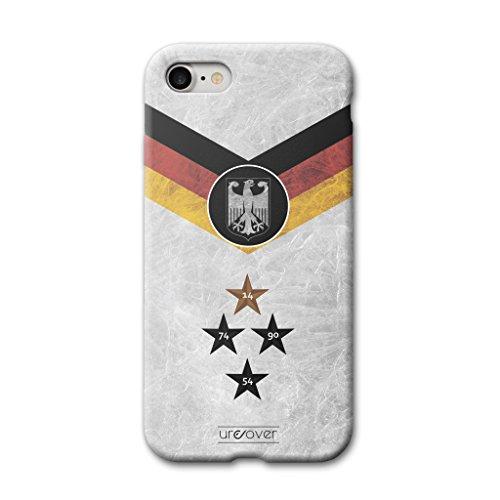 Urcover® Voetbalbeschermhoes, compatibel met Apple iPhone 7/8, bekend van tv, schokbestendige hoes voor mobiele telefoon, wereldkampioenschap 2018, fanartikelen, backcase van flexibel & r
