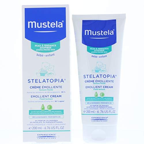 Mustela Stelatopia - Crema emoliente para piel atópica, 200 ml