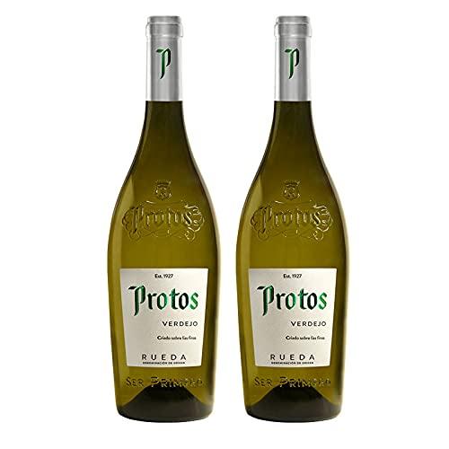 Vino Blanco Protos Verdejo de 75 cl - D.O. Rueda - Bodegas Protos (Pack de 2 botellas)