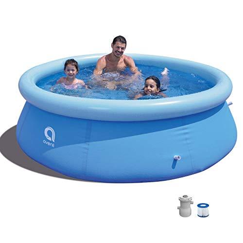 Swimming Pool mit Filterpumpe Gartenpool 244 x 63 cm