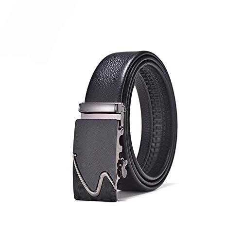 TWFY Cinturón de Hombre de Cuero Clásico (110-130cm) Cinturones de Cuero for Hombres con Hebilla automática de trinquete Cinturón de Vestir Casual (Size : 110)