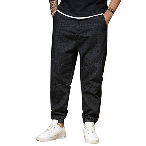 Übergroß Herren Basic Slim Fit Jeanshose Stretch Designer Hose Denim Jeans Chino mit Stretch Bootcut Original Army Freizeithose Pants Männer Farbauswahl Loose Bundeswehrhose