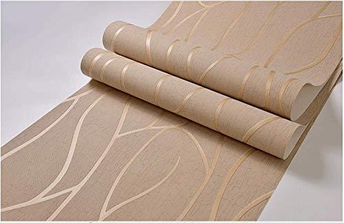3D Papel Pintado No Tejido de color crema mural Papel Pintado Rayas curvas Arte Moderno Diseño Salón TV Fondo De Pantalla Papel Tapiz para Las Paredes del Dormitorio