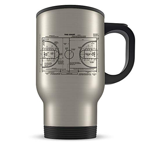 Taza de baloncesto de viaje, regalo de baloncesto, idea de regalo de baloncesto, regalo temático de baloncesto, taza de viaje, regalo, taza de patente