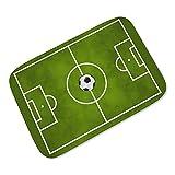 LEEBA grüner Fußball-Teppich für Kinder
