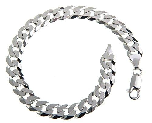 7,5mm Panzerkette Armband, Länge wählbar 16-25cm - echt 925 Silber