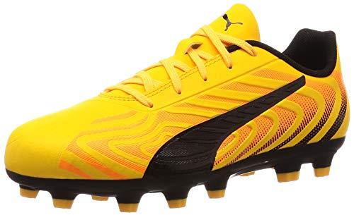 PUMA One 20.4 HG JR Unisex Soccer Cleats-Yellow-5.5