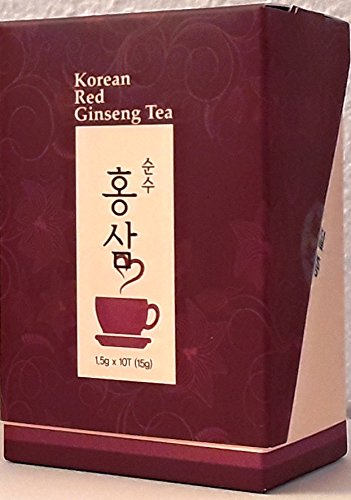 Korean Red Ginseng Tee, Teabag (1.5g x 10 ), ohne Zusatzstoffe