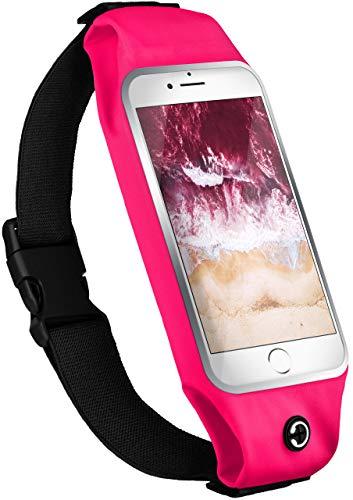MoEx Custodia Sportiva Compatibile con Nokia Lumia 630/635 | Impermeabile, Foro Auricolari, Rosa