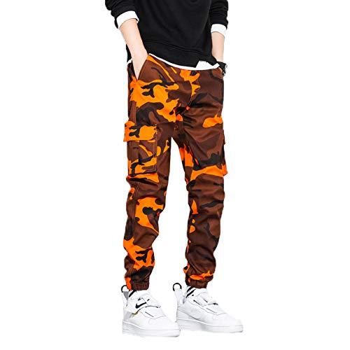 XYJD Nuevos Pantalones Casuales para Hombre, Pantalones Holgados Deportivos para Hombre, Pantalones de Camuflaje de Nueve Puntos de otoño para Hombre, Herramientas de Moda
