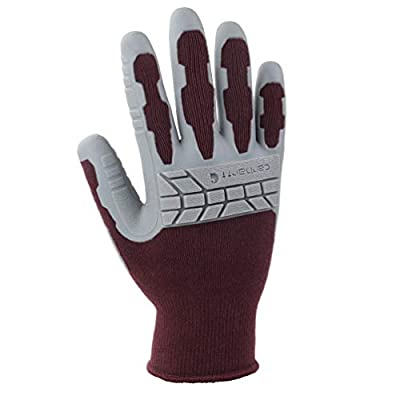 Carhartt Women's Knuckler Work Glove with Grip and Knuckle Protection, Dusty Plum, Large