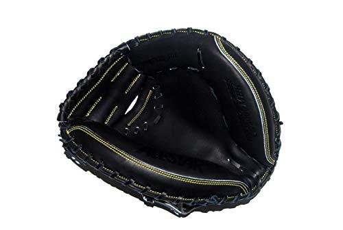 All-Star CM3000MBK-1BK34 Pro-Elite Professional Catching Mitt/Solid Black BK 34