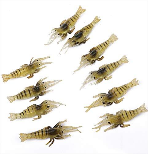 tomtaskエビワームソフトルアー釣りルアー釣り餌疑似餌ソフトワーム小エビエビルアー20匹セット魚釣りフィッシングワームバス釣り小えびワームお徳用セットテナガエビ
