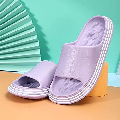 For Men Non-Slip Flip Flops Couple Anti-Slip Slippers Home Thick-Pink_37/38 Womens-Fluffy-Sliders