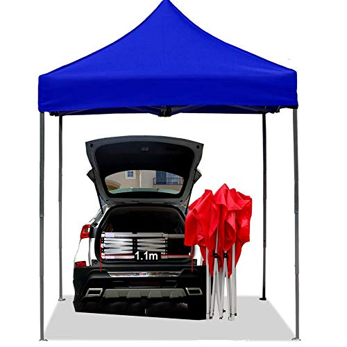 ZHTY 3x3m Seasons Carpa Plegable desplegable Carpa portátil Altura Ajustable Aluminio Resistente, Totalmente Resistente al Agua Anti-UV Sombrilla Exterior...
