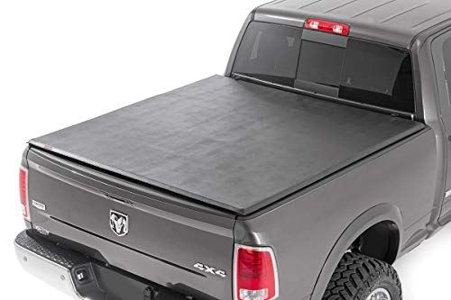 Rough Country Soft Tri-Fold (fits) 2009-2018 Ram Truck | 6.4 FT Bed | No RamBox | Truck Tonneau Cover | RC46319640