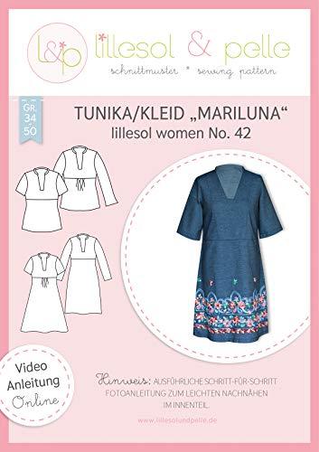 lillesol & pelle Schnittmuster lillesol Women No.42 Tunika/Kleid Mariluna in Größe 34-50 zum Nähen mit Foto-Anleitung und Video