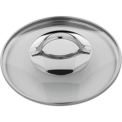 WMF Pfannen- Topfdeckel 16 cm, Glasdeckel mit rundem Metallgriff, Deckel für Töpfe & Pfannen, hitzebeständiges Glas, spülmaschinengeeignet