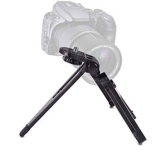 1 x mini-statiefcamera, draagbaar, opvouwbaar, voor kantoor, mobiele telefoon, camcorder, statief monopod, houder voor fotografie, accessoires voor mobiele telefoon, action camera's