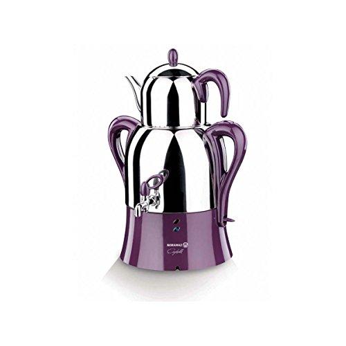18/10 Edelstahl violett Farbe Teekanne türkisch Doppeltes Elektrisches Teekocher Wasserkocher Tee Samowar