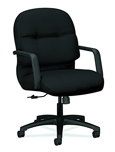 HON Executive Chair - Pillow-Soft Series Mid-Back Office , Black (H2092)