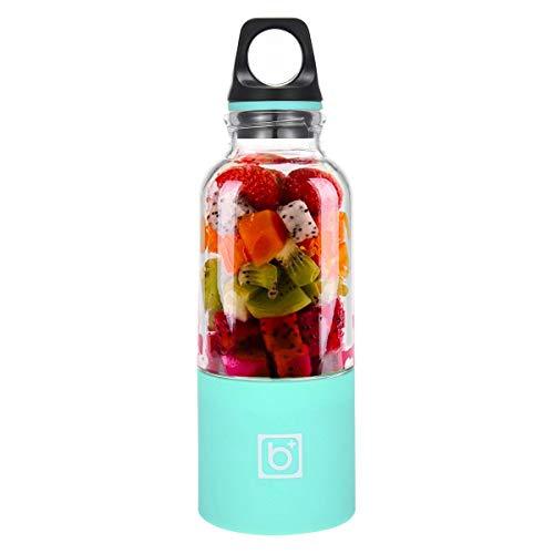 Hamkaw Versión Mejorada 500ml Juice Blender, Licuadora Portátil, Vaso Exprimidor Travel Juicer Bottle con Tapa, Mezclador De Frutas Eléctrico con Cable USB Charger, 4 Cuchillas En 3D