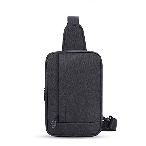 Borsa da Uomo Petto Sling Bag Bag Water Resistant Borse Crossbody Classico Maschile Durevole Petto Bag (Colore : Nero)