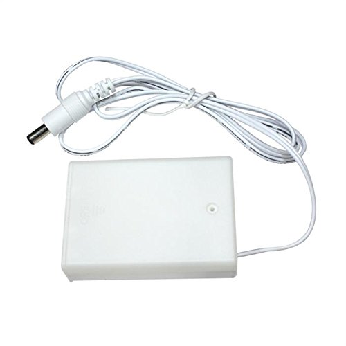 Box batterie - DC Spina 90cm DC Spina 5,5/2,1mm bianco 3x AA Batteria 4,5V