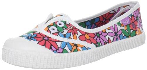 Sugar Damen Otto Slip-On Fashion Sneaker, Weiß (weiße Blumen), 41 EU