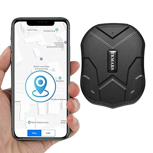GPS Tracker,Localizzazione GPS Magnete Potente Tempo Reale Tracciatore,GPS Tracker per Auto 3 Mesi di Standby,GPS Antifurto con APP Gratuita,IP65,Batteria da 5000mAh