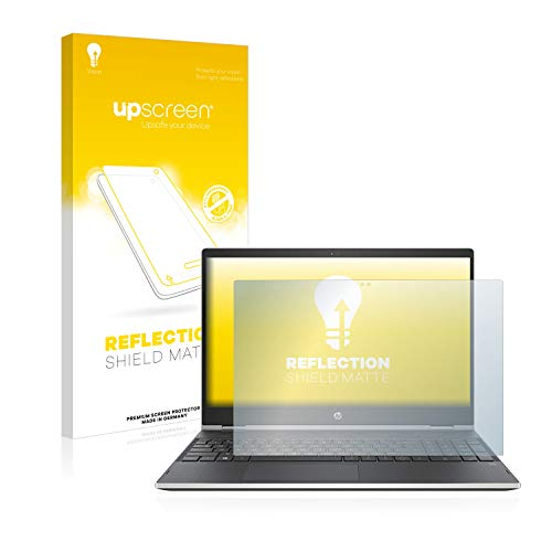upscreen Entspiegelungs-Schutzfolie kompatibel mit HP Pavilion x360 15 cr0003ng – Anti-Reflex Bildschirmschutz-Folie Matt