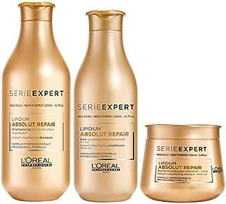 L'Oréal Absolut Repair Lipidium Shampoo (300ml), Condicionador (200ml) E Máscara (250ml)