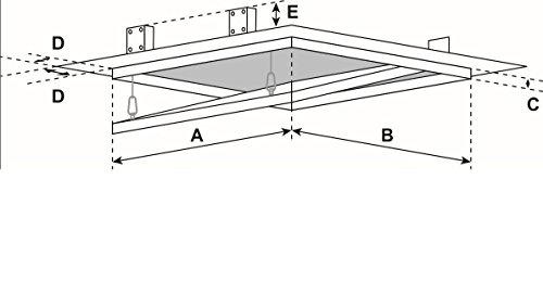 FF Systembau Revisionsklappe 63 x 63 x 1,25 cm mit GKBI Gips, aushängbar und abschließbar (Rahmen)