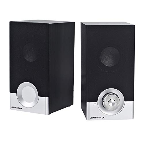 New Computer Speakers, 6W Wood USB Speaker, Multimedia Speakers for Laptop, Desktop, Tablets, Phones