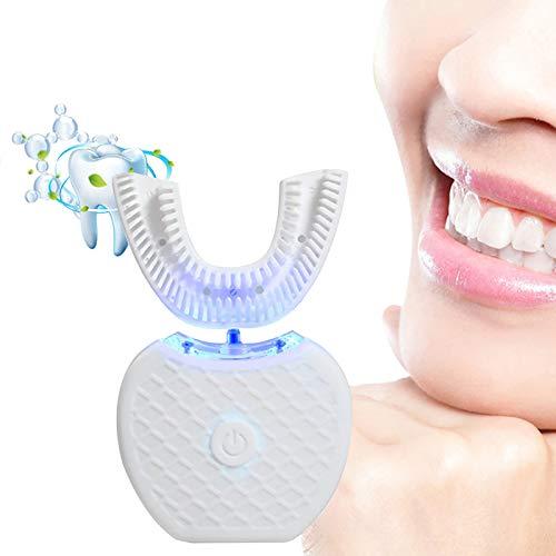 360° U Typ Ultraschall-Zahnbürste, Vollautomatische elektrische Zahnbürste Blu ray Whitening Automatische Zahnbürste U Zahnbürste Zahnpasta-Set Mundreiniger für Erwachsene