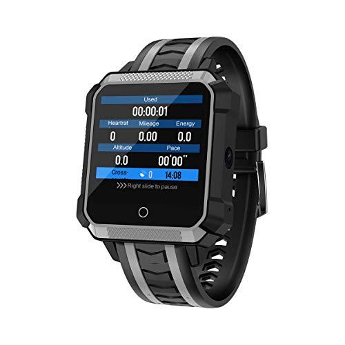 3G Smartwatch Fitness Wristband IP68 Actividad Impermeable, t Tracker con Tarjeta SIM TF Solt GPS Contador de Pasos, Reloj Deportivo para iOS Android para Hombres