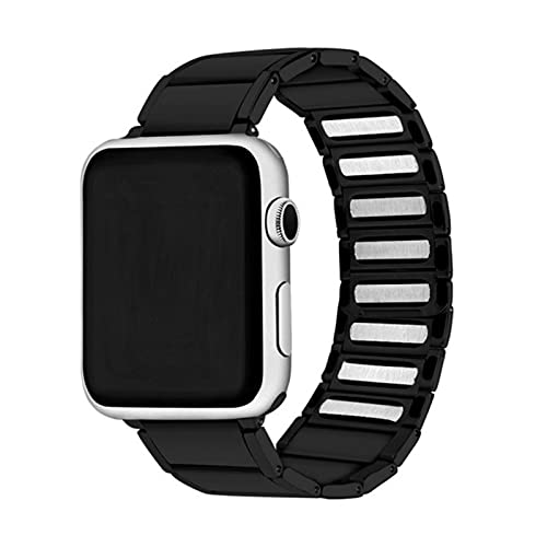 Correa de reloj de acero inoxidable para Apple Watch Band 44mm 40mm 4mm 38mm Correa de reloj de bucle magnético para IWatch