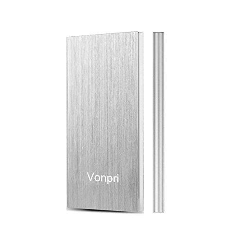 Vonpri Power Bank, Batería Externa 10000mAh Cargador Móvil Portátil Puertos Dobles y...