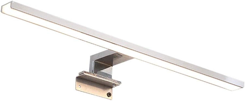 & Spiegellampen Spiegel Frontleuchte LED Bad Licht Spiegel Kabinett Licht Wandleuchte Wasserdicht Rostfrei Make-Up Lampe Badezimmerbeleuchtung (Farbe   Neutral-30cm)