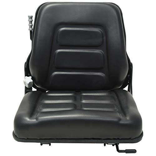 Tidyard Gabelstaplersitz Traktorsitz Federung Mit Rückenlehne verstellbar von 90° bis 105°,Gabelstaplersitz Sitz 3 Gewichtseinstellungen,48 x 50 x 49 cm,Einfache Montage